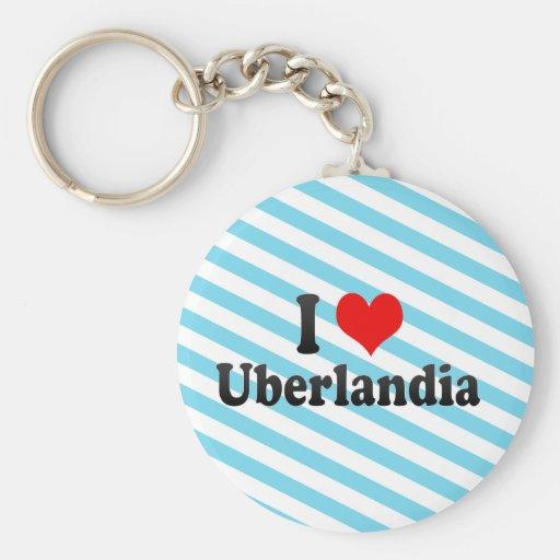 Eu amo Uberlandia, Brasil Chaveiro