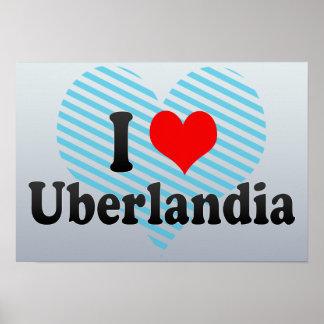 Eu amo Uberlandia Brasil Posters