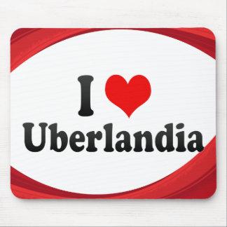 Eu amo Uberlandia Brasil Mousepad