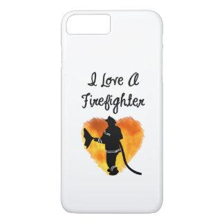 Eu amo um sapador-bombeiro capa iPhone 7 plus