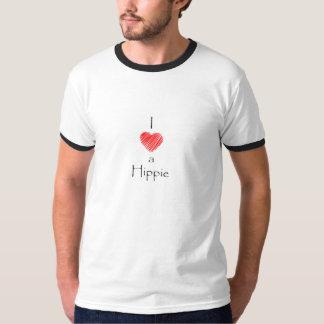 Eu amo uma camiseta do Hippie