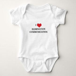 Eu amo uma comunicação da eliminação body para bebê