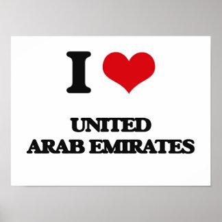 Eu amo United Arab Emirates Posters