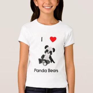 Eu amo ursos de panda t-shirts