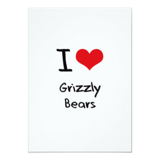Eu amo ursos de urso convites