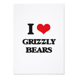 Eu amo ursos de urso convites personalizados