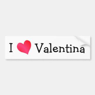 Eu amo Valentina Adesivo Para Carro