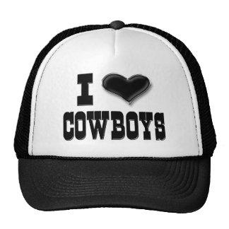 Eu amo vaqueiros boné