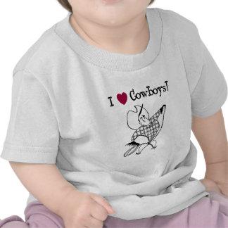 Eu amo vaqueiros tshirts