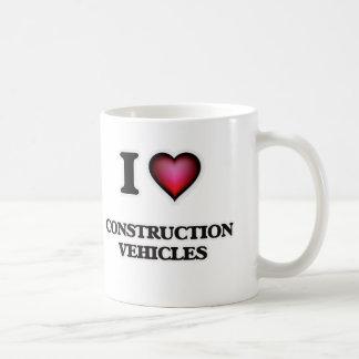 Eu amo veículos da construção caneca de café