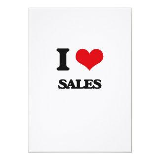 Eu amo vendas convite 12.7 x 17.78cm