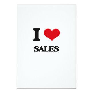 Eu amo vendas convite 8.89 x 12.7cm