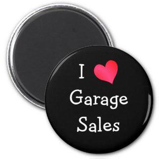 Eu amo vendas de garagem ímã redondo 5.08cm