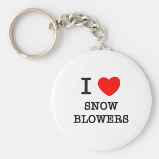 Eu amo ventiladores de neve chaveiro