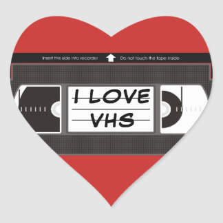 Eu amo VHS Adesivo Coração