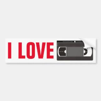 Eu amo videotapes adesivo para carro