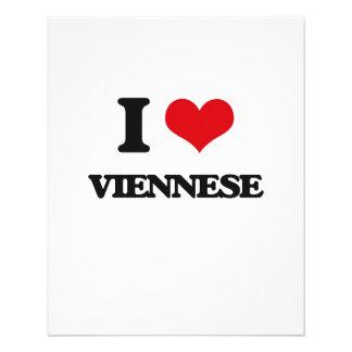 Eu amo VIENENSE Modelo De Panfleto