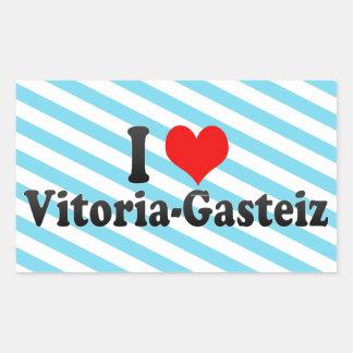 Eu amo Vitoria-Gasteiz, espanha Adesivos Em Formato Retangulares