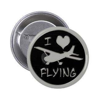 Eu amo voar bóton redondo 5.08cm