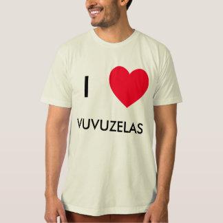 Eu amo VUVUZELAS!  Mim camiseta do coração