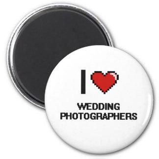 Eu amo Wedding fotógrafo Ímã Redondo 5.08cm