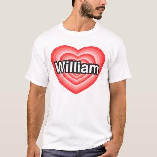 Eu amo William. Eu te amo William. Coração Camiseta