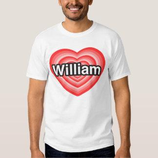 Eu amo William. Eu te amo William. Coração T-shirt