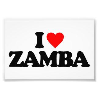 EU AMO ZAMBA IMPRESSÃO DE FOTO