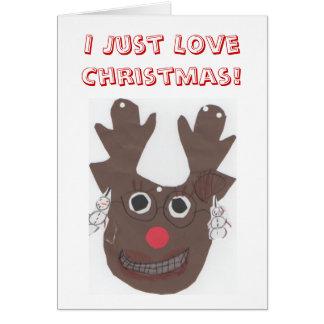 Eu apenas amo o cartão do Natal