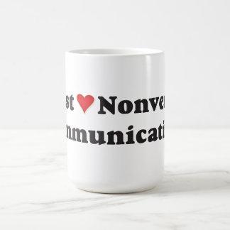 Eu apenas amo uma comunicação não verbal! caneca