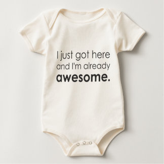 Eu apenas obtive aqui e eu sou já impressionante body para bebê