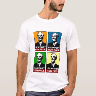 Eu apoio a camisa do quadrilátero de Ron Paul