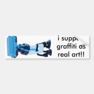 eu apoio grafites como a arte real adesivos