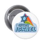 Eu apoio Israel - orgulho judaico israelita Botons