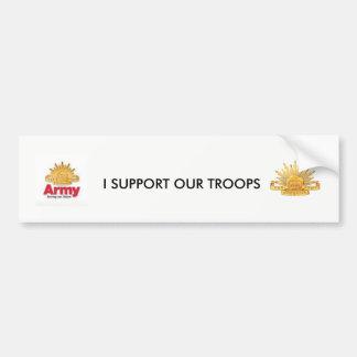 eu apoio nossas tropas adesivo de para-choque