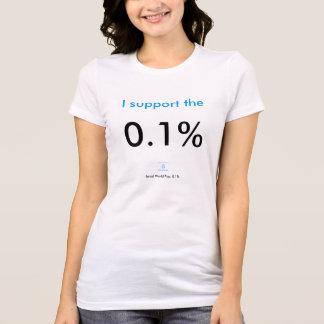 Eu apoio o 0,1% camisetas
