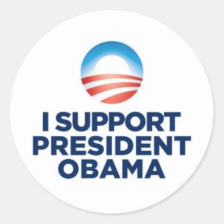 Eu apoio o presidente Obama Adesivo Redondo