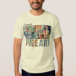 Eu apoio o t-shirt das belas artes de Tubac