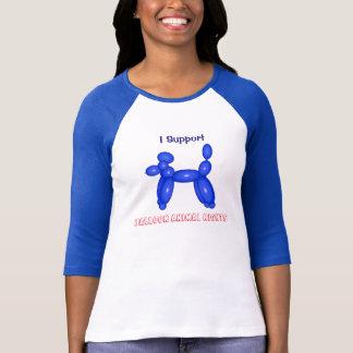 Eu apoio o t-shirt do Raglan das mulheres dos
