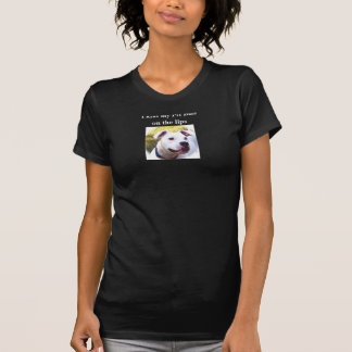 Eu beijo meu pitbull nos lábios camisetas