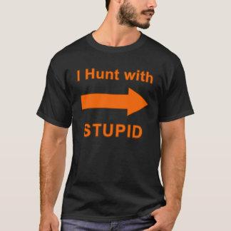 Eu caço com estúpido - a camisa dos homens em