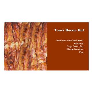 Eu como o texto do bacon com fundo cartão de visita