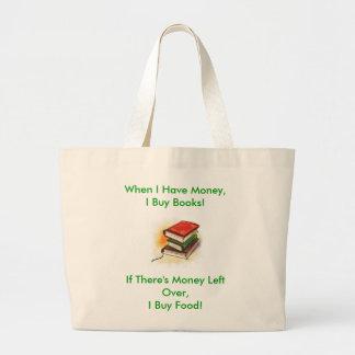 Eu compro livros! sacola bolsa tote grande