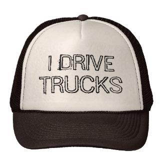 Eu conduzo o design de texto dos caminhões boné