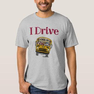 Eu conduzo uma camisa do auto escolar tshirts