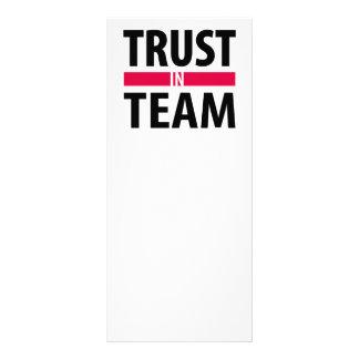 Eu confio na equipe 10.16 x 22.86cm panfleto