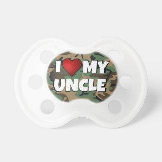 Eu (coração) amo meu tio - Pacifier do bebê Chupeta Para Bebê