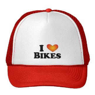 Eu (coração) Bikes - Mult-Produtos de Lite Bonés