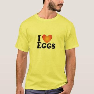 Eu (coração) Eggs - t-shirt do Multi-Produto de Camiseta