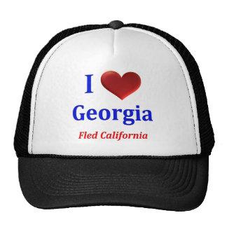 Eu coração Geórgia fuji Califórnia Bone